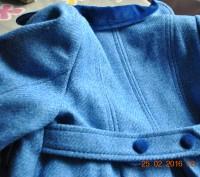 Продаю пальто, синего цвета. в отличном состоянии, практически не ношенное. Заме. Киев, Киевская область. фото 6