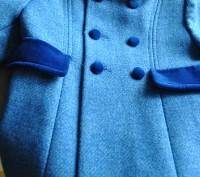 Продаю пальто, синего цвета. в отличном состоянии, практически не ношенное. Заме. Киев, Киевская область. фото 2