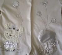 Продам нарядный велюровый человечек в комплекте с шапочкой. Цвет нежно-молочный . Запоріжжя, Запорізька область. фото 6