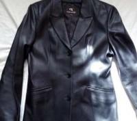кожаный пиджак классика. Балаклея. фото 1