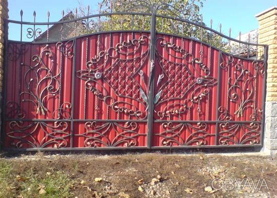 Ворота и калитка из профнастила в одессе ворота дачные цены