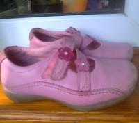 Фирменные туфельки на девочку 26 размер , длина стельки 17 см. Полностью кожаные. Чернігів, Чернігівська область. фото 4
