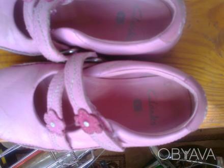 Фирменные туфельки на девочку 26 размер , длина стельки 17 см. Полностью кожаные. Чернігів, Чернігівська область. фото 1