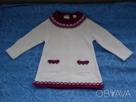 Продам платье вязанное Gloria Jeans (Китай) на 12 - 18 месяцев (86 р.). Спереди . Киев, Киевская область. фото 1