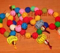 Замечательная игрушка, можно использовать мамочкам как украшение. Браслетик-грыз. Белая Церковь, Киевская область. фото 4