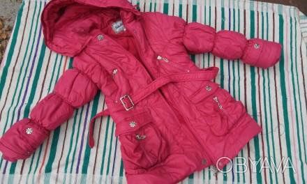 Куртка теплая осень-зима ,мех на капюшоне отстегивается ,не промокает,наполнение. Киев, Киевская область. фото 1