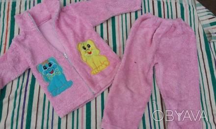 Костюм теплый для девочки можно использовать в садик как пижаму отличное состоян. Киев, Киевская область. фото 1
