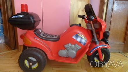 Продам детский мотоцикл на аккамуляторе, состояние нового Покупался для девочки. Днепр, Днепропетровская область. фото 1