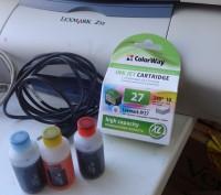 Продам Принтер Lexmark + новый картридж+чернило. Днепр. фото 1