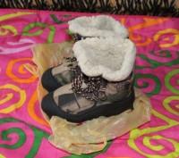 Зимние термо сапожки на овчине,26-27 размер,хорошее состояние,цена 195 грн.. Киев, Киевская область. фото 2