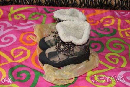 Зимние термо сапожки на овчине,26-27 размер,хорошее состояние,цена 195 грн.. Киев, Киевская область. фото 1