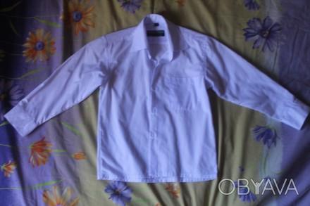 Рубашка белая на мальчика,новая,размер 28/29,длина рукава-36,5 см.,Длина от воро. Киев, Киевская область. фото 1