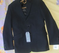 Пиджак новый на мальчика,красивый темно синий цвет,почти черный,на пуговицах,раз. Киев, Киевская область. фото 2