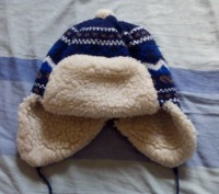 Теплая зимняя шапка на холодную зиму для мальчика 3-5 лет. Очень мягкая, не колю. Запоріжжя, Запорізька область. фото 2