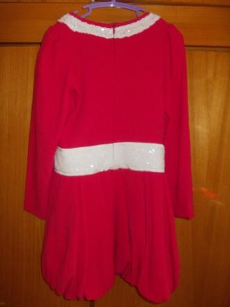 Платье детское бардовое на 8-10 лет подюбник,на молнии от пояса,общая длинна 64с. Полтава, Полтавская область. фото 7