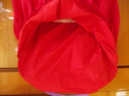 Платье детское бардовое на 8-10 лет подюбник,на молнии от пояса,общая длинна 64с. Полтава, Полтавская область. фото 9