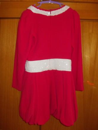 Платье детское бардовое на 8-10 лет подюбник,на молнии от пояса,общая длинна 64с. Полтава, Полтавская область. фото 6