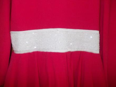 Платье детское бардовое на 8-10 лет подюбник,на молнии от пояса,общая длинна 64с. Полтава, Полтавская область. фото 5