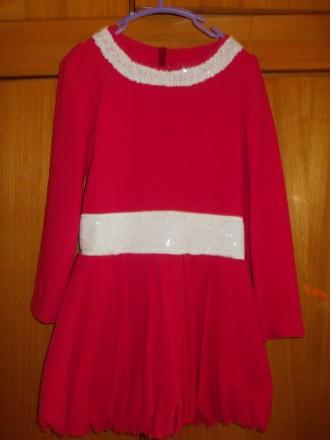 Платье детское бардовое на 8-10 лет подюбник,на молнии от пояса,общая длинна 64с. Полтава, Полтавская область. фото 2