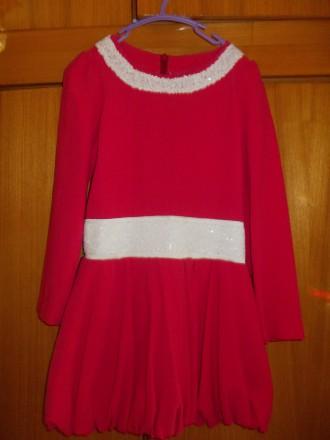 Платье детское бардовое на 8-10 лет подюбник,на молнии от пояса,общая длинна 64с. Полтава, Полтавская область. фото 3