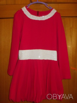 Платье детское бардовое на 8-10 лет подюбник,на молнии от пояса,общая длинна 64с. Полтава, Полтавская область. фото 1