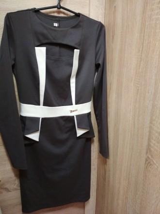 Платье длинный рукав размер 42-44 трикотажное. Харьков. фото 1