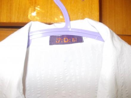 Блузка рубашка детская на лет 10-12 белая на кнопках,плечи-39см,пог-45см..длинна. Полтава, Полтавская область. фото 4