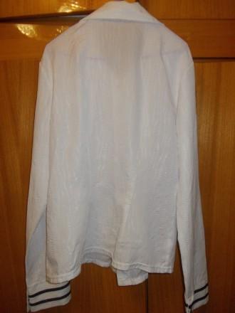 Блузка рубашка детская на лет 10-12 белая на кнопках,плечи-39см,пог-45см..длинна. Полтава, Полтавская область. фото 7