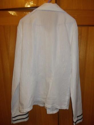 Блузка рубашка детская на лет 10-12 белая на кнопках,плечи-39см,пог-45см..длинна. Полтава, Полтавская область. фото 6