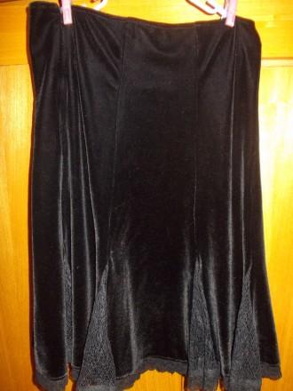 Юбка детская тип велюр черная миди 12-15 лет,пот-34см,длинна-53см,Оплата на карт. Полтава, Полтавская область. фото 4