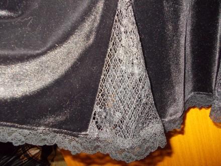Юбка детская тип велюр черная миди 12-15 лет,пот-34см,длинна-53см,Оплата на карт. Полтава, Полтавская область. фото 6