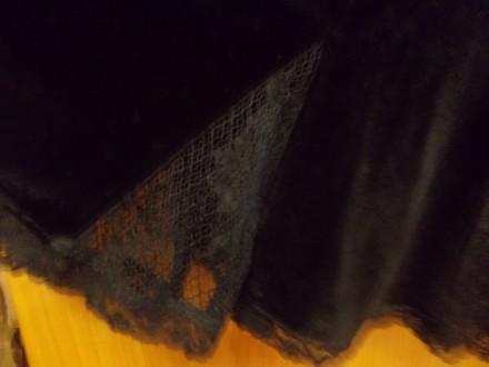 Юбка детская тип велюр черная миди 12-15 лет,пот-34см,длинна-53см,Оплата на карт. Полтава, Полтавская область. фото 7