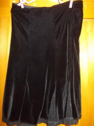 Юбка детская тип велюр черная миди 12-15 лет,пот-34см,длинна-53см,Оплата на карт. Полтава, Полтавская область. фото 2