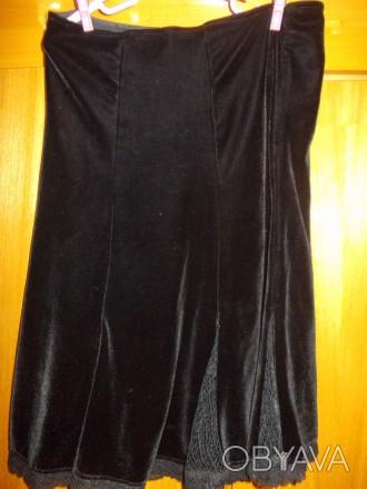 Юбка детская тип велюр черная миди 12-15 лет,пот-34см,длинна-53см,Оплата на карт. Полтава, Полтавская область. фото 1