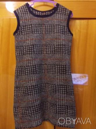 Платье детское теплое без рукавов на 5-7 лет