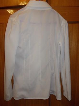 Блузка рубашка детская светлая на 6-7лет ,плечи-33 см,длинна-53см,пог-38см.,рука. Полтава, Полтавская область. фото 6