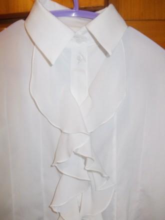 Блузка рубашка детская светлая на 6-7лет ,плечи-33 см,длинна-53см,пог-38см.,рука. Полтава, Полтавская область. фото 4