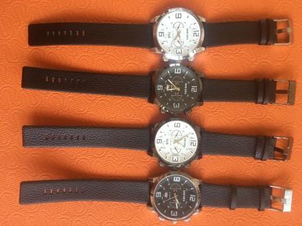 Новые мужские часы, ремешок черный кожзам. Акция! Цена снижена с 280 до 170 грн.. Запорожье, Запорожская область. фото 3