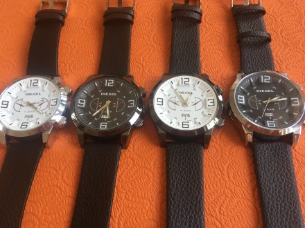 Новые мужские часы, ремешок черный кожзам. Акция! Цена снижена с 280 до 170 грн.. Запорожье, Запорожская область. фото 2