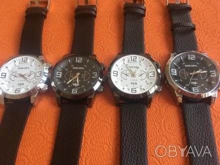 Новые мужские часы, ремешок черный кожзам. Акция! Цена снижена с 280 до 170 грн.. Запорожье, Запорожская область. фото 1