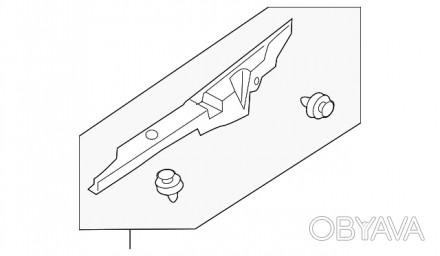 Уплотнитель крыла капот крыло правое Chevrolet Volt 11-15 22774562. Тернополь, Тернопольская область. фото 1