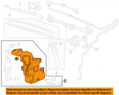 Бачок омывателя Chevrolet Volt 11-15 без горловины 20988414. Тернополь, Тернопольская область. фото 2