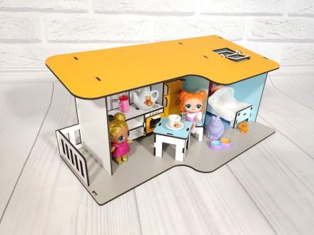 Пляжный кукольный домик с мебелью и текстилем для кукол LOL 11 предметов. Харьков. фото 1