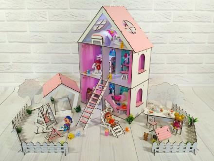 Кукольный домик для кукол LOL. LITTLE FUN maxi с мебелью и Двориком. Харьков. фото 1