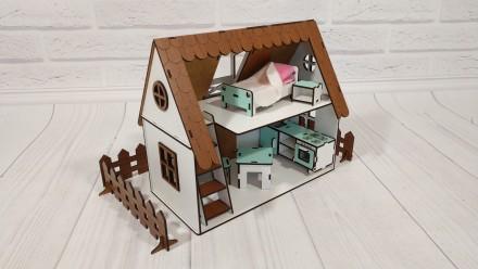 Домик для кукол LOL  Сельский Домик с мебелью и светом. Харьков. фото 1