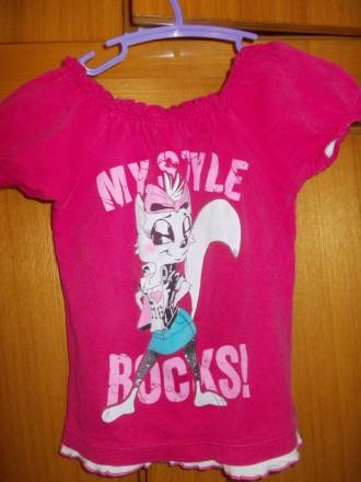 футболка детская на 4-6 лет 100% хлопок ,состояние отличное,плечи-27,длинна-38 с. Полтава, Полтавская область. фото 2