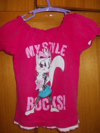 футболка детская на 4-6 лет 100% хлопок ,состояние отличное,плечи-27,длинна-38 с. Полтава, Полтавская область. фото 3
