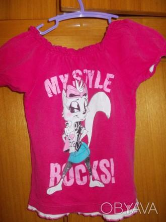 футболка детская на 4-6 лет 100% хлопок ,состояние отличное,плечи-27,длинна-38 с. Полтава, Полтавская область. фото 1