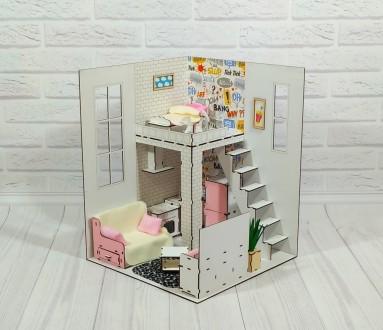 Кукольный домик Барби. Пентхаус 2 этажа с мебелью, обоями, текстилем. Харьков. фото 1