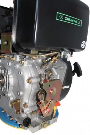 Двигатель дизельный GrunWelt GW186FВE (9,5 л.с., шлицы) GrunWelt GW186FВE - дизе. Киев, Киевская область. фото 10